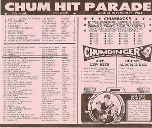 Chum Chart  December 28 1964