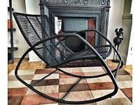 Black contemporary Rocking chair