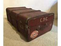 Antique Steamer Trunk / Chest / Suitcase. Coffee Table or Storage Box.