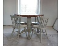 Stunning Grey Dining Table With Four Chairs