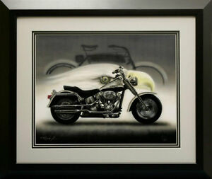Signed /numbered Limited edition Harley print framed