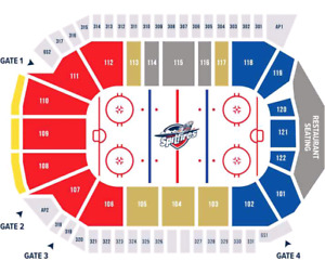 2 SPITZ TIX SUNDAY 2:05pm vs. SAGINAW