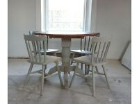Stunning Grey Dining Table With Four Chairs - can deliver