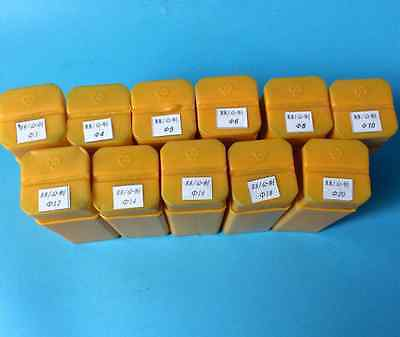 11pcs Precision R8 Collet Set New 3mm - 20mm Assortment Kit Drawbar Thread M12
