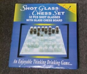 Drinking Shot Glass Chess Set Brand NEW Quakers Hill Blacktown Area Preview