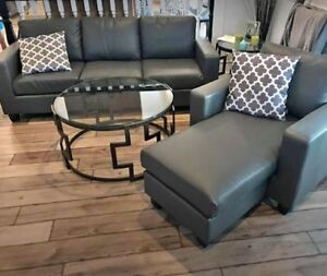 **BRAND NEW IN BOXES** Bonded Leather Couch Sofa Set
