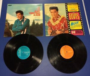 Elvis Presley Vinyl LP records - Blue Hawaii & Christmas Album London Ontario image 1