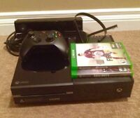 XBOX ONE + KINECT    500GB (games are separate)