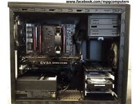 Gaming PC i7-5820K,X99,GTX1070, 16GB DDR4, 120GB SSD, 2TB hdd,gold PSU, PENTA COOLER,Fractal case