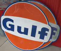 GULF SIGN - GENUINE VINTAGE
