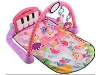 Fisher price pink piano and play mat VGC