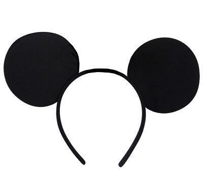 MICKEY MOUSE EARS HEADBAND FANCY DRESS LADIES MEN KIDS BOYS GIRLS. (Mickey Mouse Kostüme Accessoires)