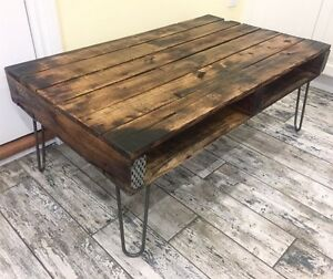 Recycled/Reclaimed Wood Coffee Table on Hairpin Legs