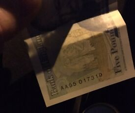 £5 note AA