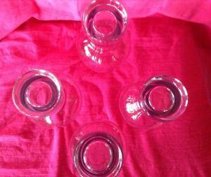 4 verres ballons. Ils sont signés de 4 cercles qui s'entrecroise Gatineau Ottawa / Gatineau Area image 3