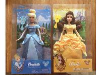 Disneyland Disney Princess dolls Cinderella and Belle