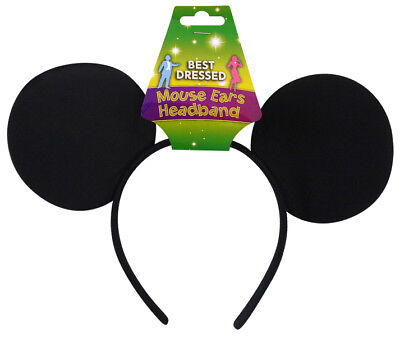 Black Mickey Mouse Ears Headband Hen Stag Nights Micky Party Fancy Dress Game](Micky Mouse Costume)