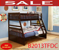 B2013TFDC-1, twin full bunk beds, mirror, chest, site end tables