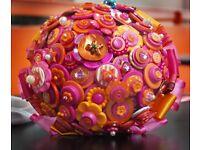 Three wedding button bouquets
