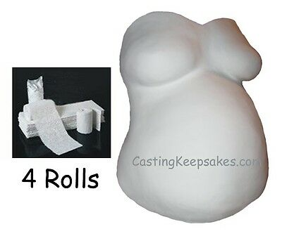 ECONOMY BELLY CAST KIT Plaster of Paris Bandage CLOTH ROLLS Pregnancy Casting