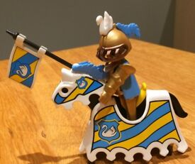 Playmobil jousting knight with horse