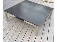 Bespoke Leather & Chrome Coffee Table & Seat