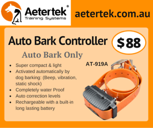 Aetertek dog training collars with auto bark control 216 211 918c