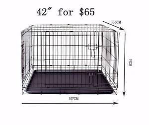 "42"" Metal foldable cage for training PET dog cat rabbit safe Richlands Brisbane South West Preview"