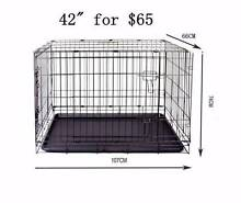 "42"" Metal foldable cage for training PET dog cat rabbit safe Richlands Brisbane South West Preview"