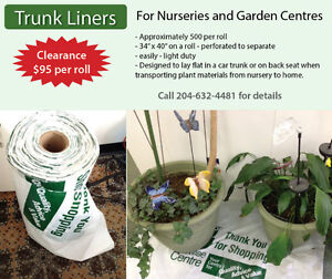 Trunk liners for Nurseries and Garden Centres