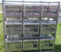 Stainless steel  cages.