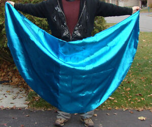 TABLE-BLING - *HUGE* GLITTERY BLUE-TABLECLOTH - OVER 7 FT ROUND