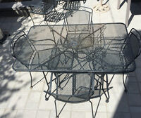 Woodward Metal Outdoor Table and Chairs