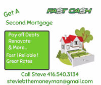 ➽ Need Money ➽ 1st/2nd Private Mortgages FAST➽Steve 416.540.3134