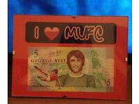 George Best Framed Commemorative £5 notes.