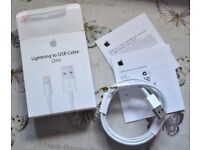 NEW 3 x Apple Lightning Genuine Cable For Ipod Ipad Iphone 5 6 7 c s se plus +