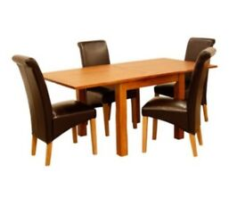 REDUCED Dining table and 4 chairs