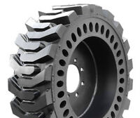 Bobcat Skid Steer Loader Solid Flex Flat Proof Tires