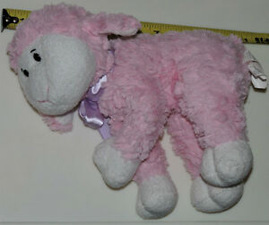 Pink Lamb with Purple Bow Soft Plush Stuffed Toy London Ontario image 1