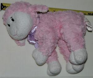 Pink Lamb with Purple Bow Soft Plush Stuffed Toy London Ontario image 1