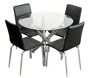 New Round tempered beveled glass table ---$239, Chair--$99New
