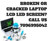 Laptop LCD LED screen replacement services - OEM parts
