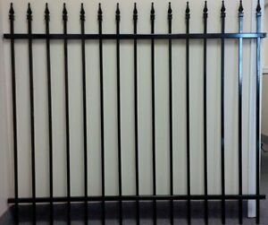 Brand New Painted Wrought Fence Iron Panel