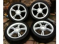 SEAT LEON FR ALLOYS WITH TYRES MINT ALLOYS ALTEA TOLEDO TFSI CUPRA K1