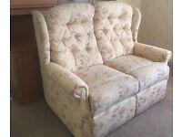 3 piece suite floral recliner delivery available