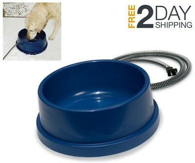Heated Dog Cat Pet Water Bowl Electric Thermal-Bowl Dish Winter Outdoor Safety