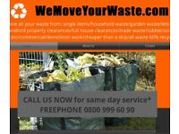 WE MOVE YOUR WASTE! WASTE RUBBISH REMOVAL SERVICE