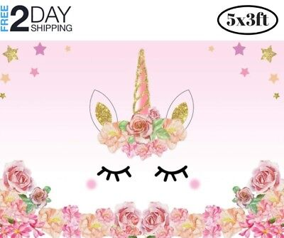 Baby Shower Party Theme (Unicorn Backdrop Birthday Party Decoration Photo Background Themed Baby Shower)