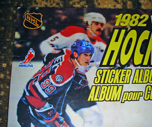 1982 NHL STICKER BOOK UNUSED VG/FN CONDITION WAYNE GRETZKY COVER