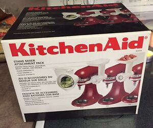 Kitchenaid Stand Mixer Attachment Pack - like new in box